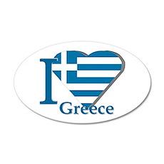I love Greece Wall Decal