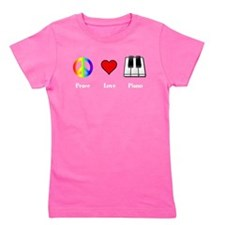 Unique Piano Girl's Tee