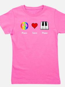 Unique Piano Girl's Tee