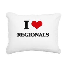 I Love Regionals Rectangular Canvas Pillow
