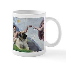 Creation (Michelangelo) & Mastiff 11 oz.Mug