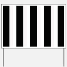 Black and White Stripes Striped classic Yard Sign