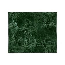 Green Marble Throw Blanket