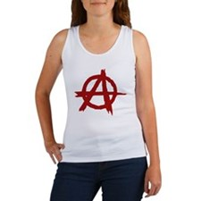 anarchy symbol (red) Women's Tank Top