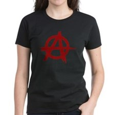 anarchy symbol (red) Tee