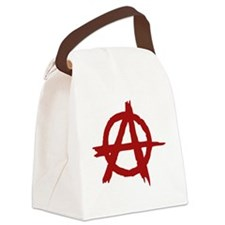 anarchy symbol (red) Canvas Lunch Bag
