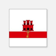 "Gibraltar Nal flag Square Sticker 3"" x 3"""