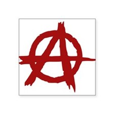 anarchy symbol (red) Sticker