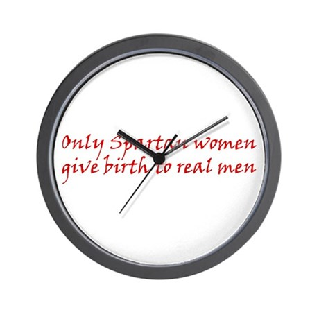 Spartan Women - 300 Quotes Wall Clock