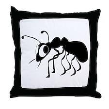 Cartoon Ant Throw Pillow