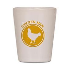 Chicken Man Shot Glass