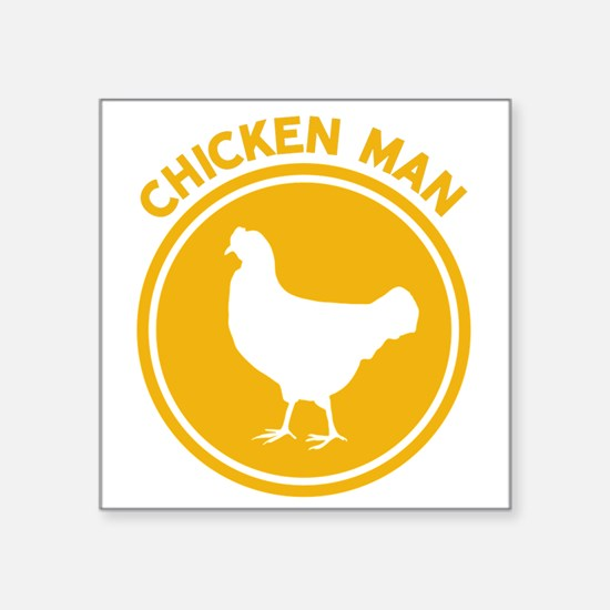 Chicken Man Sticker