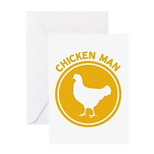Chicken Man Greeting Cards