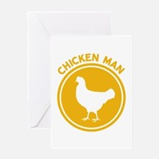 Chicken Man Greeting Cards