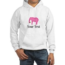 Personalizable Pink Elephant With Clover Hoodie
