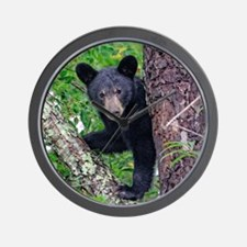 I SEE YOU - Baby Black Bear Wall Clock