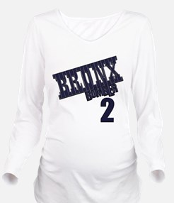 Bronx Bomber Jeter No 2.png Long Sleeve Maternity