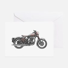 Enfield Motorcycle Greeting Card