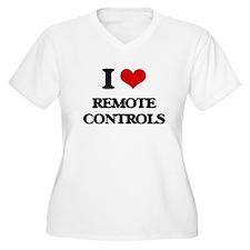 I Love Remote Controls Plus Size T-Shirt