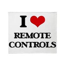 I Love Remote Controls Throw Blanket
