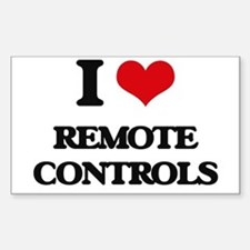 I Love Remote Controls Decal