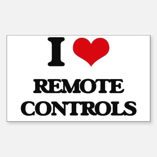 I Love Remote Controls Decal