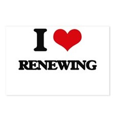 I Love Renewing Postcards (Package of 8)