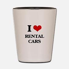 I Love Rental Cars Shot Glass