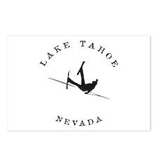 Lake Tahoe Nevada Funny Falling Skier Postcards (P
