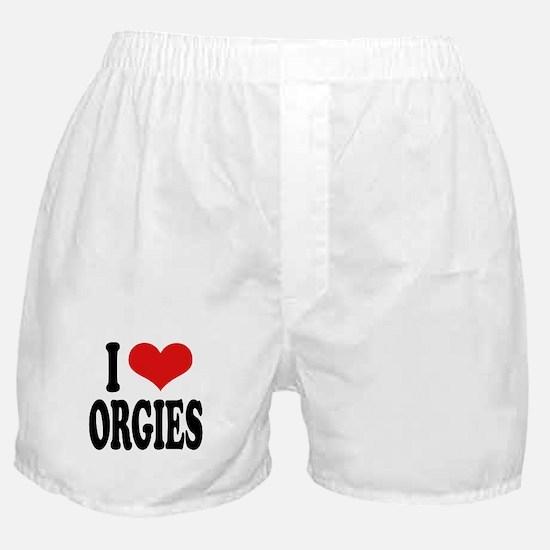 I Love Orgies Boxer Shorts