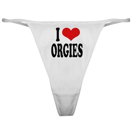 I Love Orgies Classic Thong