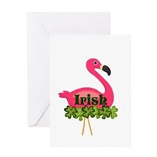 Irish Flamingo Greeting Cards