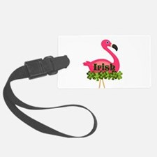 Irish Flamingo Luggage Tag
