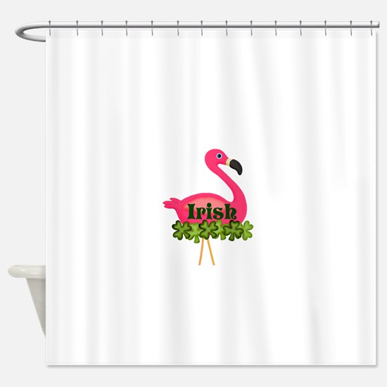 Irish Flamingo Shower Curtain