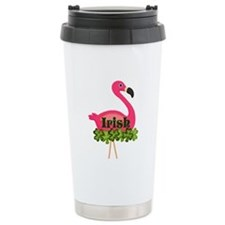 Irish Flamingo Travel Mug