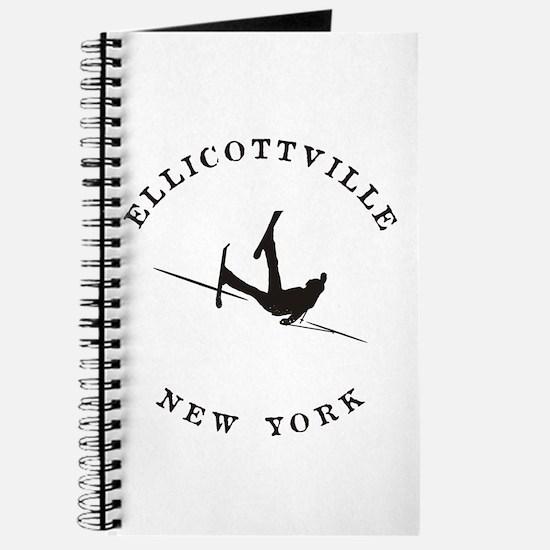 Ellicottville New York Funny Falling Skier Journal