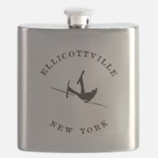 Ellicottville New York Funny Falling Skier Flask
