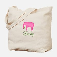 Personalizable Pink Elephant Tote Bag