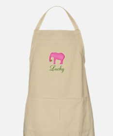 Personalizable Pink Elephant Apron