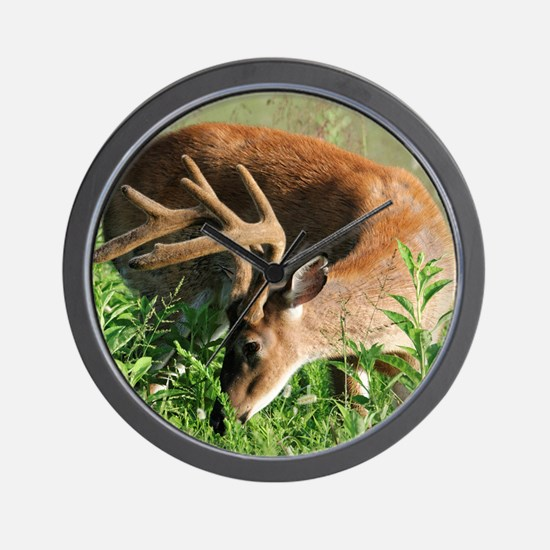 BUCK in Great Smoky Mtns Wall Clock