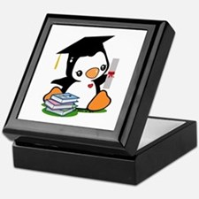 Graduation Penguin (2) Keepsake Box