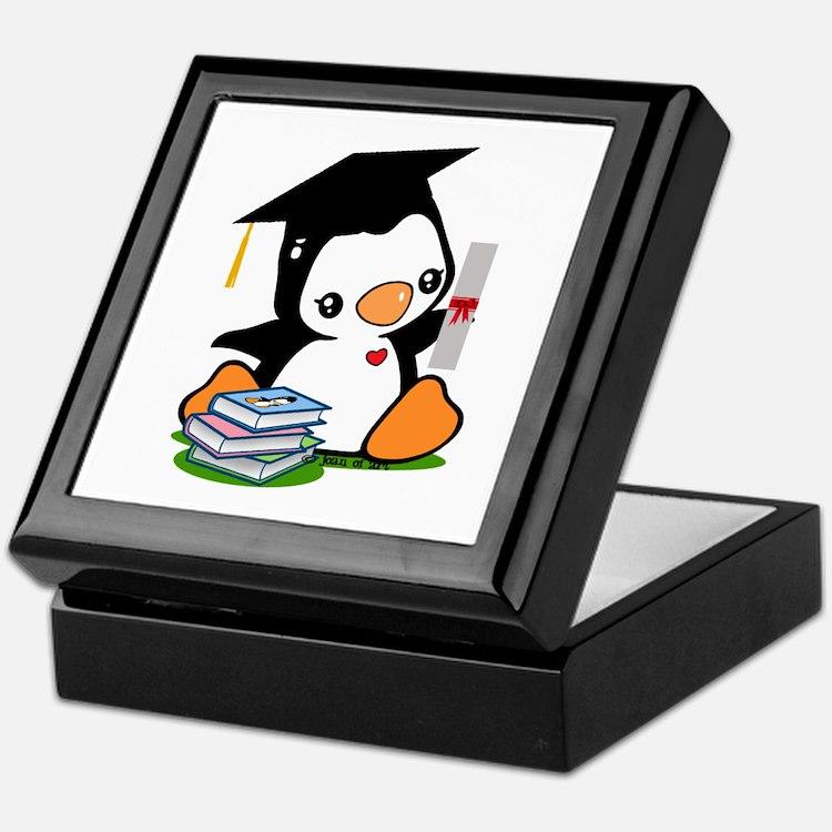 Graduation Penguin (2) Keepsake Box