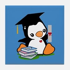 Graduation Penguin (2) Tile Coaster