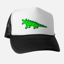 Cartoon Alligator Trucker Hat