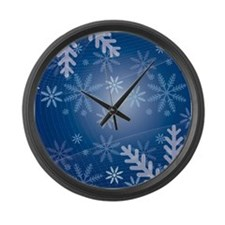 Midnight Snow Large Wall Clock