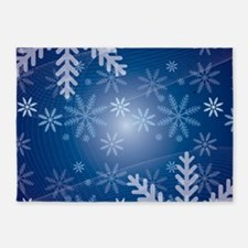 Midnight Snow 5'x7'Area Rug