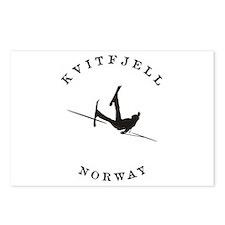 Kvitfjell Norway Funny Falling Skier Postcards (Pa