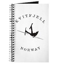 Kvitfjell Norway Funny Falling Skier Journal