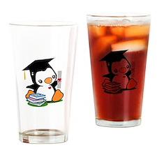 Graduation Penguin (2) Drinking Glass