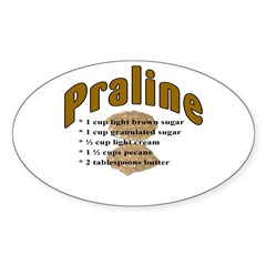 Praline Oval Decal